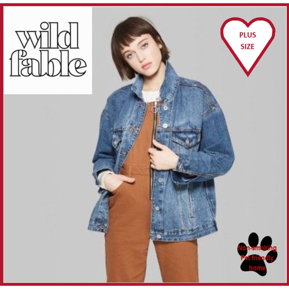wild fable Jackets & Blazers - *One Left!* 4X Wild Fable Distressed Denim Jacket